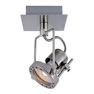 Wickes Studio LED Brushed Chrome Single Spotlight - 5.3W