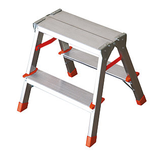 Tb Davies Light Duty 2 Tread Aluminium Hopup Stepladder