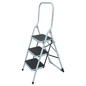 Tb Davies Light Duty 3 Tread Aluminium Safety Stepladder