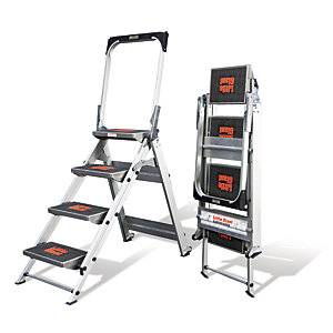Tb Davies Little Giant Safety 4 Tread Aluminium Stepladder