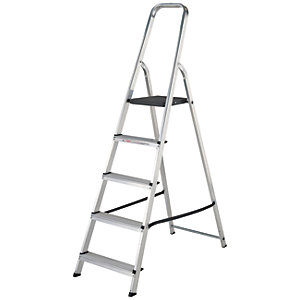 Werner High Handrail 5 Tread Aluminium Stepladder