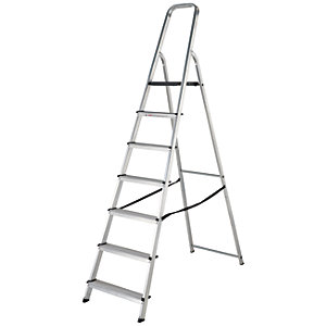 Werner High Handrail 7 Tread Aluminium Stepladder