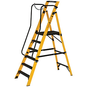 Youngman Megastep 6 Tread Fibreglass Platform Stepladder
