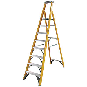 Youngman S400 8 Tread Fibreglass Platform Stepladder