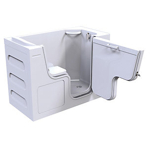 Wickes Serenity Right Hand Straight Wide Door Easy Access Bath - 1300 x 1050mm
