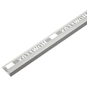 Homelux 12mm Metal Square Stainless Steel Square Tile Trim 2.44m