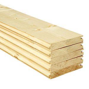 Wickes PTG Timber Floorboards - 18mm x 119mm x 3000mm - Pack of 5