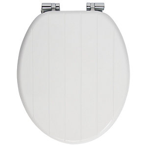 Wickes Tongue & Groove Wood Effect Toilet Seat - Soft Close