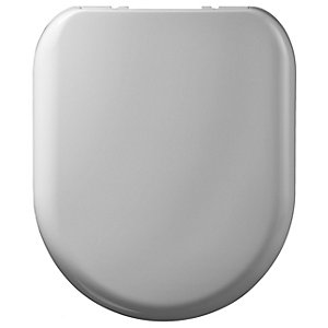 Wickes White Thermoset D Shaped Toilet Seat - Soft Close