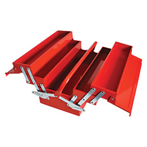 Faithfull Metal Cantilever Tool Box 5 Tray 400mm (17in)
