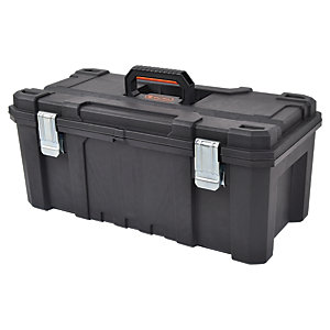 Tactix Heavy Duty Toolbox with Metal Hinges - 21.5in