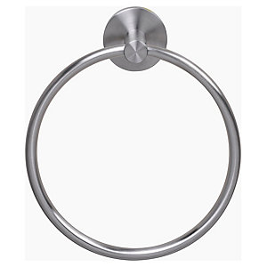 Croydex Brushed Steel Towel Ring