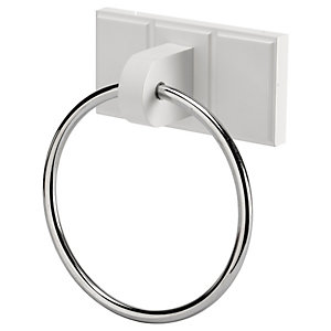 Croydex Portland White Towel Ring