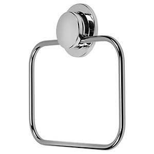Croydex Stick & Lock Chrome Towel Ring