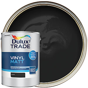 Dulux Trade Vinyl Matt Emulsion Paint - Black 5L