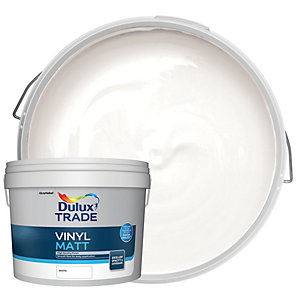Dulux Trade Vinyl Matt Emulsion Paint - White 10L