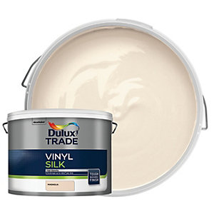 Dulux Trade Vinyl Silk Emulsion Paint - Magnolia 10L