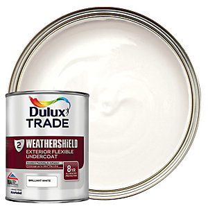 Dulux Trade Weathershield Exterior Flexible Undercoat Paint - Brilliant White 1L