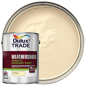 Dulux Trade Weathershield Smooth Masonry Paint - Buttermilk 5L