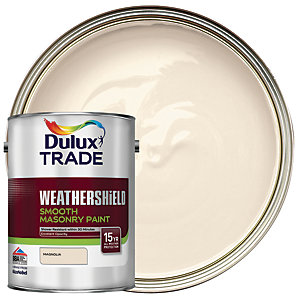 Dulux Trade Weathershield Smooth Masonry Paint - Magnolia 5L