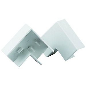 Wickes Mini Trunking Flat Angle - White 25 x 16mm Pack of 2