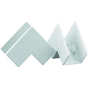 Wickes Mini Trunking Inside Angle - White 16 x 16mm Pack of 2