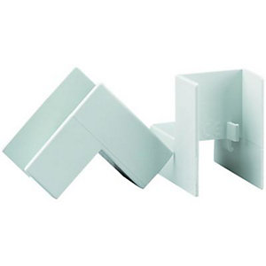 Wickes Mini Trunking Inside Angle - White 25 x 16mm Pack of 2