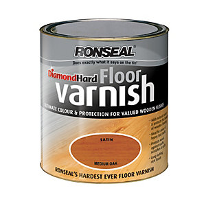 Ronseal Diamond Hard Floor Varnish - Medium Oak 2.5L