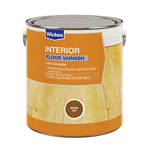 Wickes Floor Varnish - Warm Oak Satin 2.5L