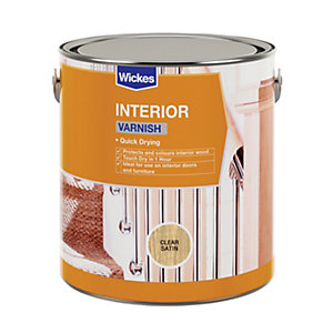 Wickes Quick Drying Interior Varnish - Clear Satin 750ml