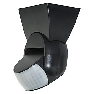 Luceco Guardian PIR Tilt Day & Night Wall Light Black IP65