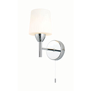 Spa Aquarius Chrome Single Bathroom Wall Light - 25W