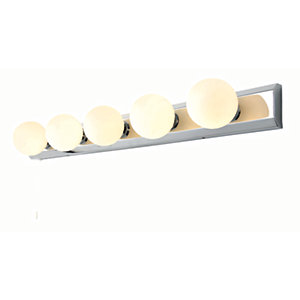 Spa Ara 5 Light Chome Retro Spotlight Bar - 200W