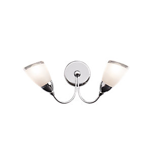 Wickes Abora Polished Chrome Wall Uplight