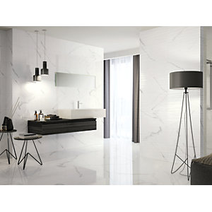 Wickes Boutique Palmas Gloss Structure Ceramic Wall Tile - 600 x 300mm