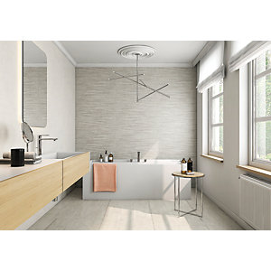 Wickes Boutique Vellore Snow Ceramic Wall Tile - 850 x 280mm