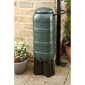 Wickes Compact Water Butt Rain Saver Kit - 100L