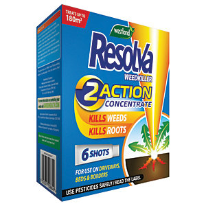Resolva 2 Action Concentrate Liquid Shots Weed Killer - 6 Tubes