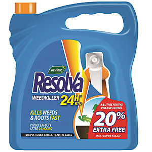 Resolva Ready to Use 24 Hour Weed Killer - 3L (+20%)