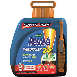 Resolva Ready to Use 24 Hour Weed Killer Power Pump - 5L