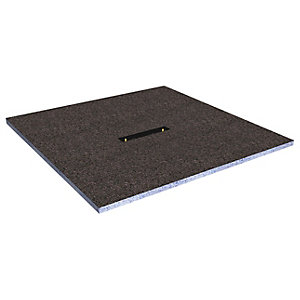 Wickes Linear 30mm Wetroom Shower Tray with Centre Drain Level Access  - 1200 X 1200mm