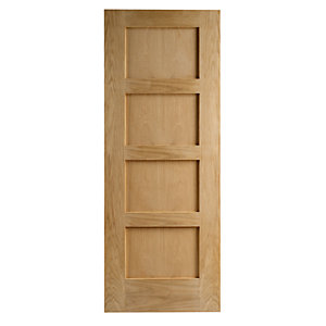 Wickes Marlow Oak 4 Panel Shaker Internal Door - 1981mm