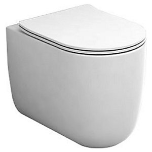 Wickes Teramo Easy Clean Back to Wall Toilet Pan & Soft Close Seat