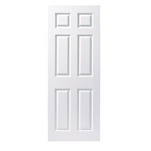Wickes Woburn White Smooth Moulded 6 Panel Internal Door
