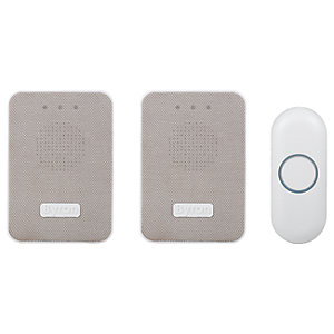 Byron DBY-22324UK 150m Wireless Doorbell Kit with Portable & Plug In Chimes