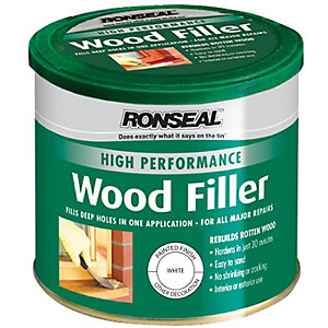 Ronseal High Performance Wood Filler - White 550g