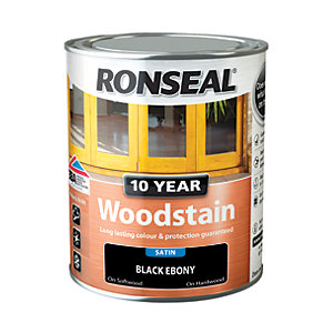 Ronseal 10 Year Woodstain - Black Ebony 750ml