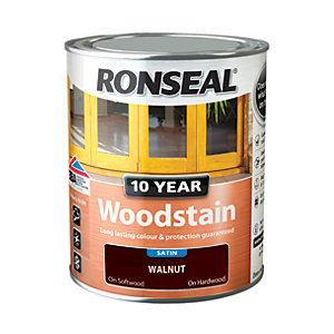 Ronseal 10 Year Woodstain - Walnut 750ml