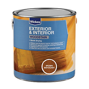 Wickes Quick Drying Woodstain - Brown Mahogany 2.5L