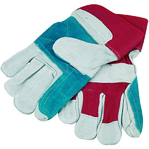 Wickes Superior Leather Rigger Gloves - One Size